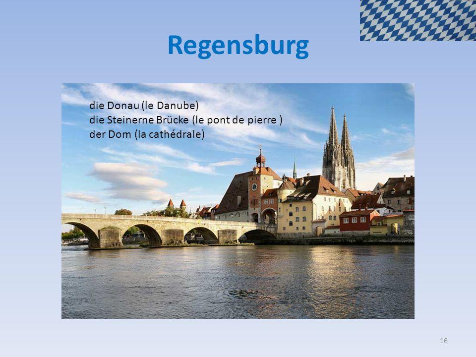 Regensburg die Donau (le Danube)