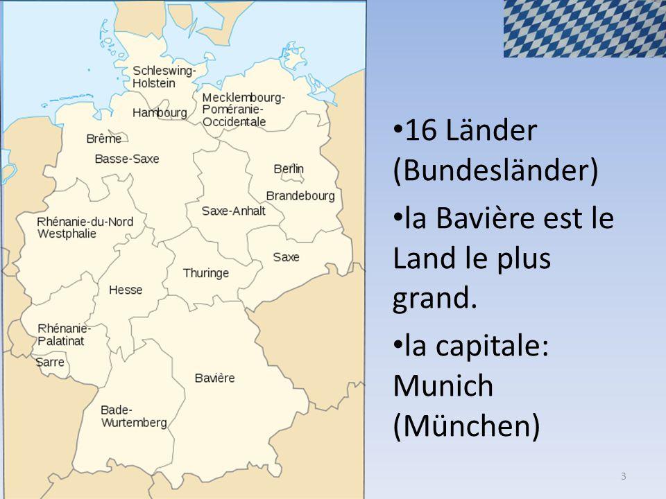 16 Länder (Bundesländer)