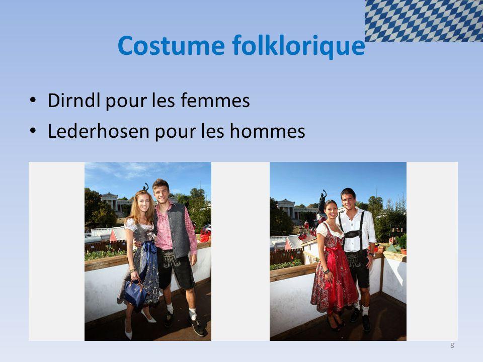 Costume folklorique Dirndl pour les femmes Lederhosen pour les hommes