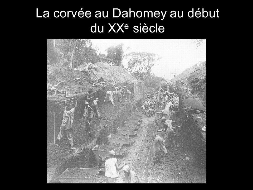 La corvée au Dahomey au début du XXe siècle