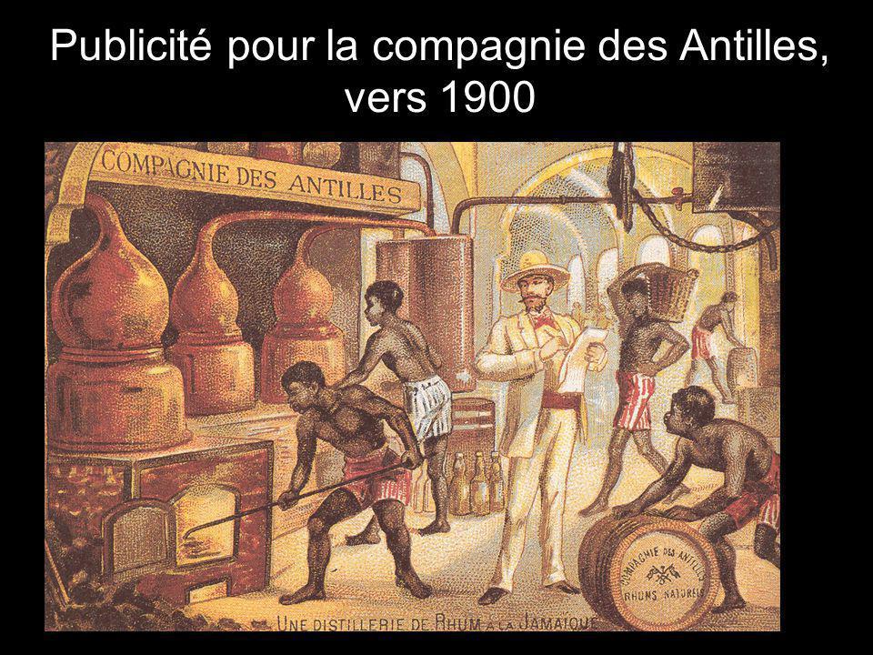 Publicité pour la compagnie des Antilles, vers 1900