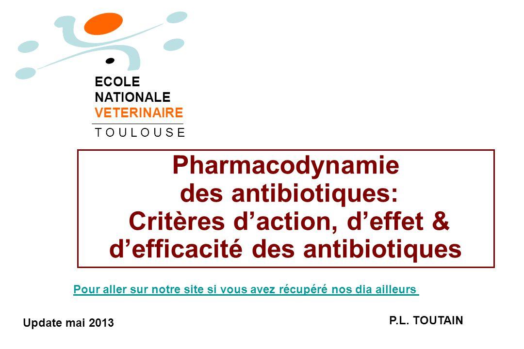 Critères d'action, d'effet & d'efficacité des antibiotiques
