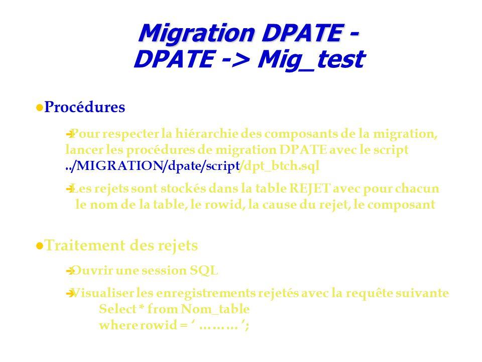 Migration DPATE - DPATE -> Mig_test