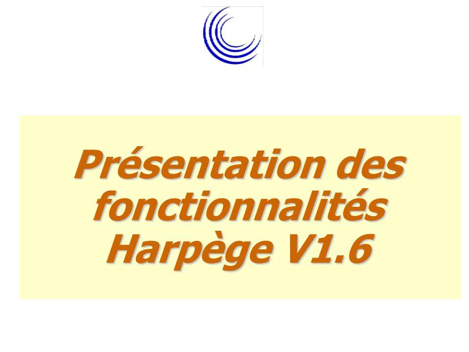 Présentation des fonctionnalités Harpège V1.6