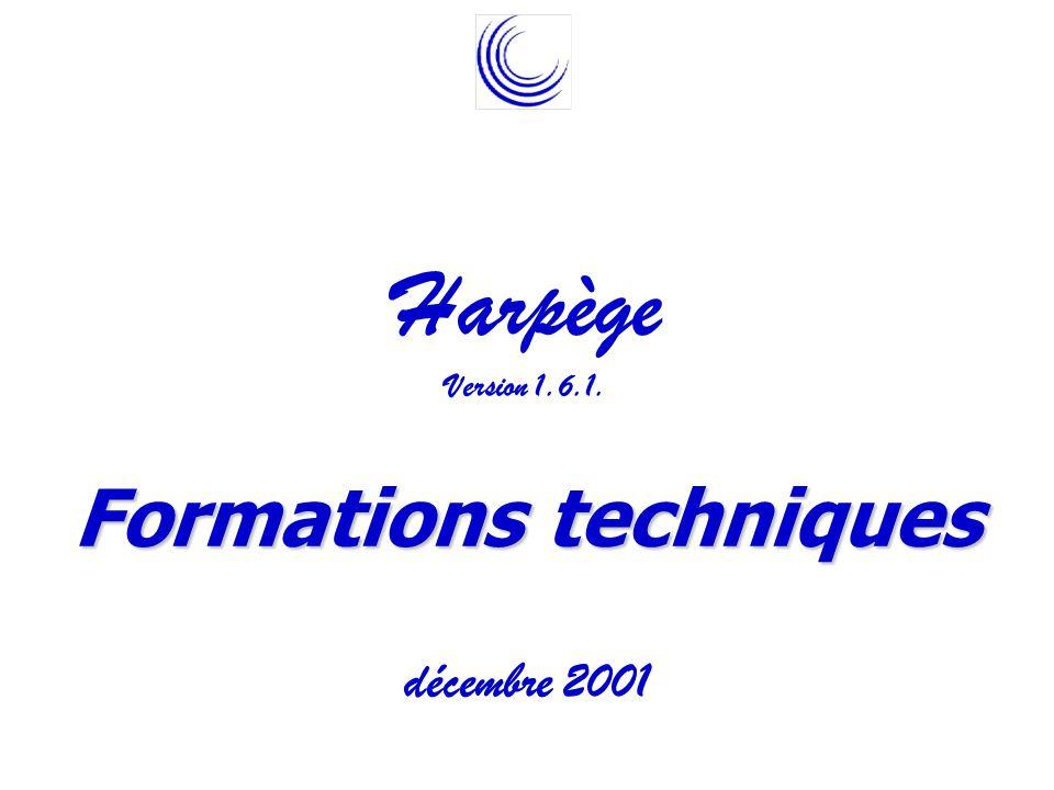 Harpège Formations techniques décembre 2001 Version 1.6.1.
