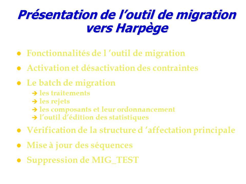 Présentation de l'outil de migration vers Harpège