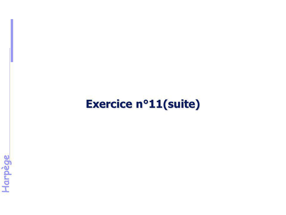 Exercice n°11(suite) Énoncé (suite) critères d'inclusion/d'exclusion :