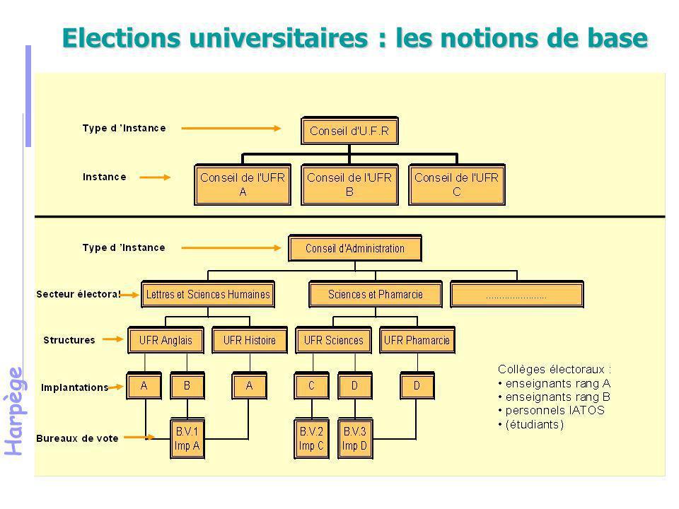 Elections universitaires : les notions de base