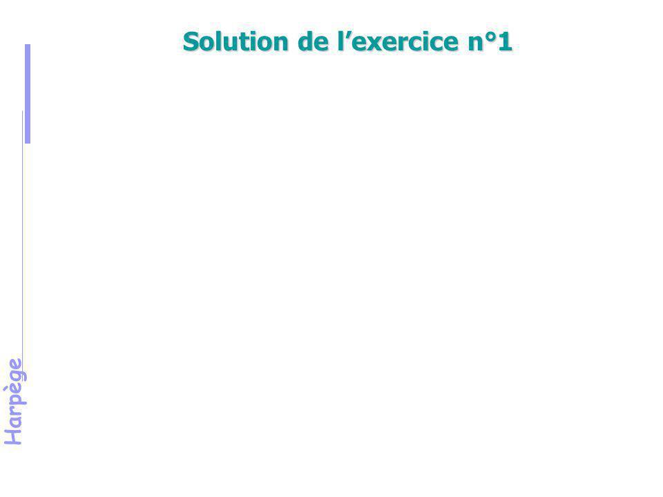 Solution de l'exercice n°1