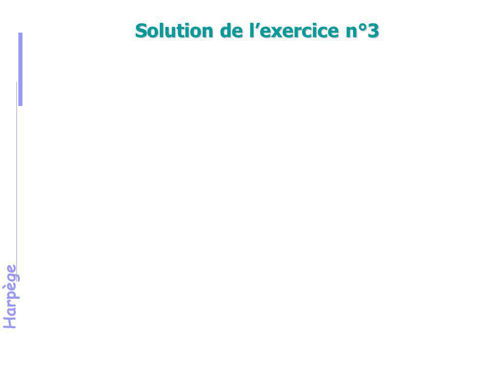 Solution de l'exercice n°3 SOLUTION DE L'EXERCICE N°3