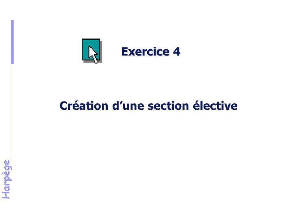 Création d'une section élective