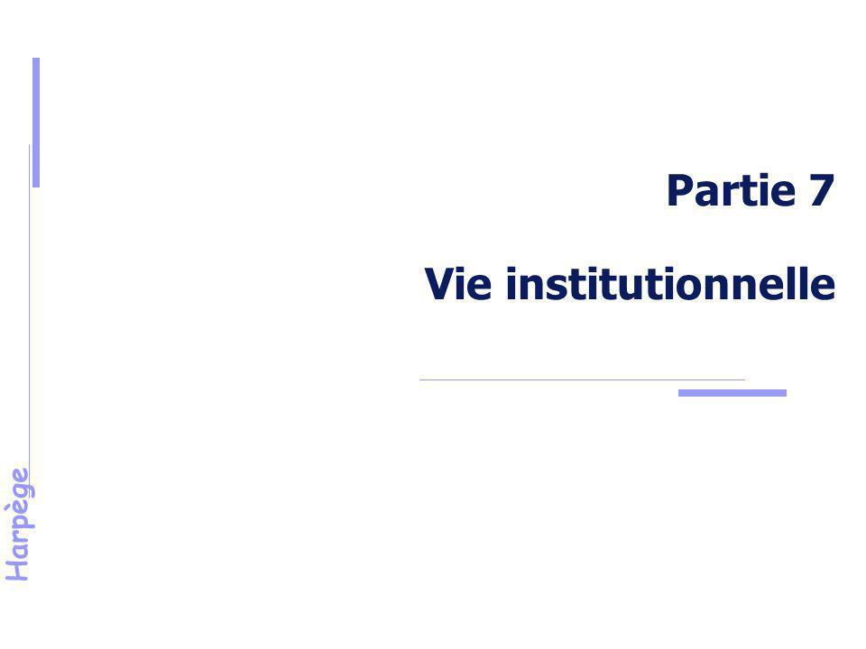 Partie 7 Vie institutionnelle