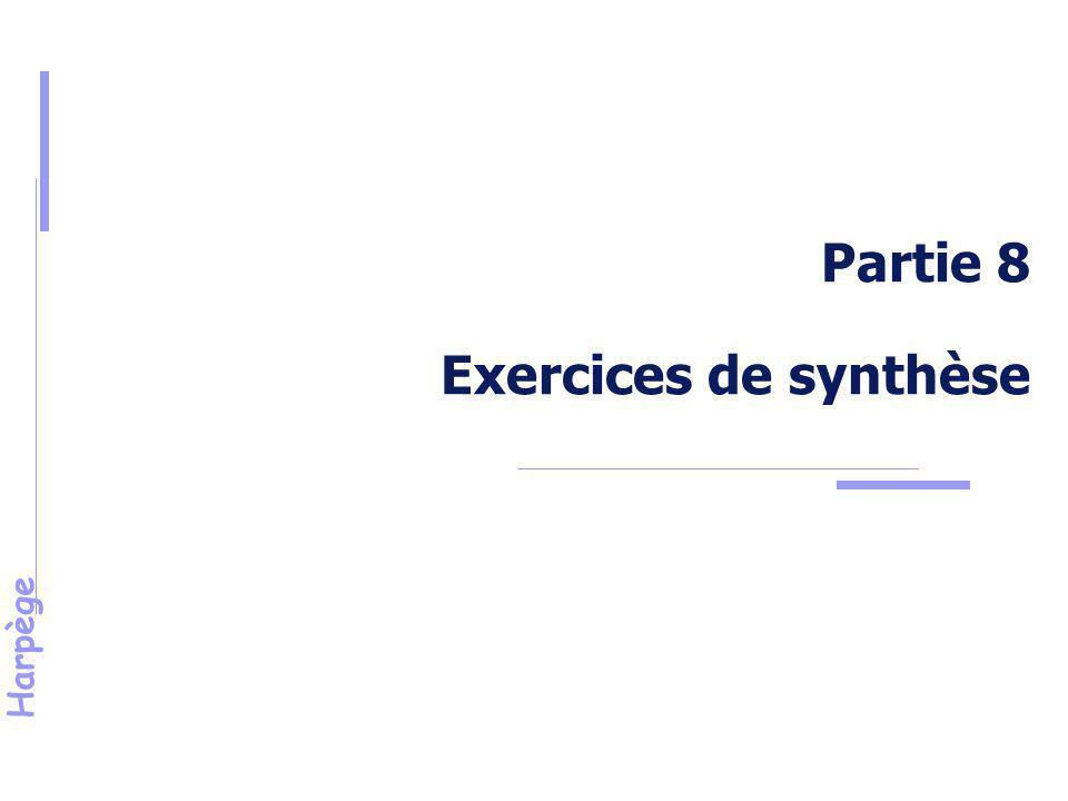 Partie 8 Exercices de synthèse