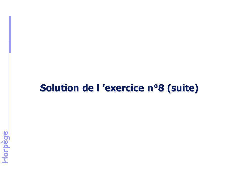 Solution de l 'exercice n°8 (suite)