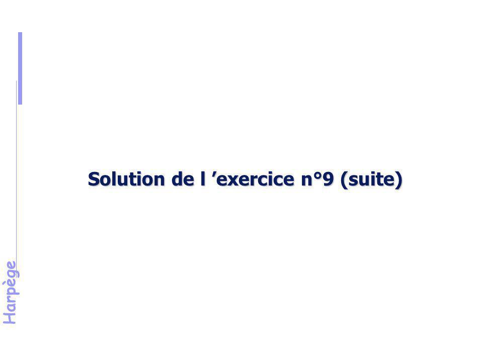 Solution de l 'exercice n°9 (suite)