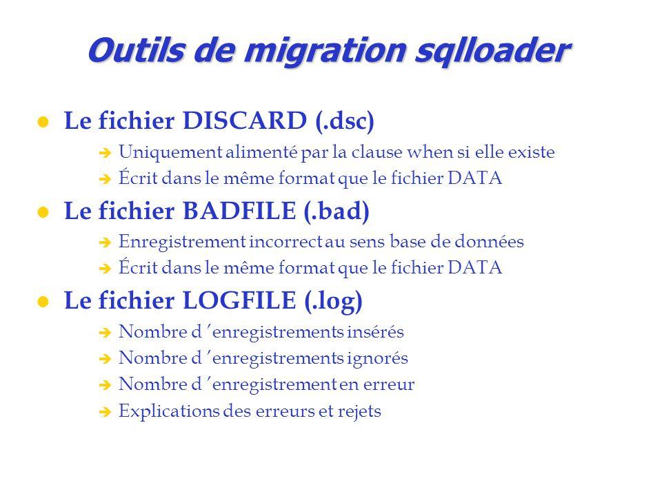 Outils de migration sqlloader