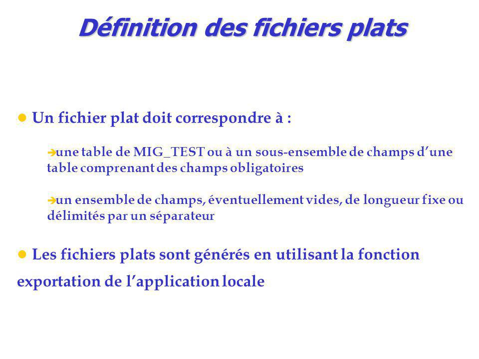 Définition des fichiers plats