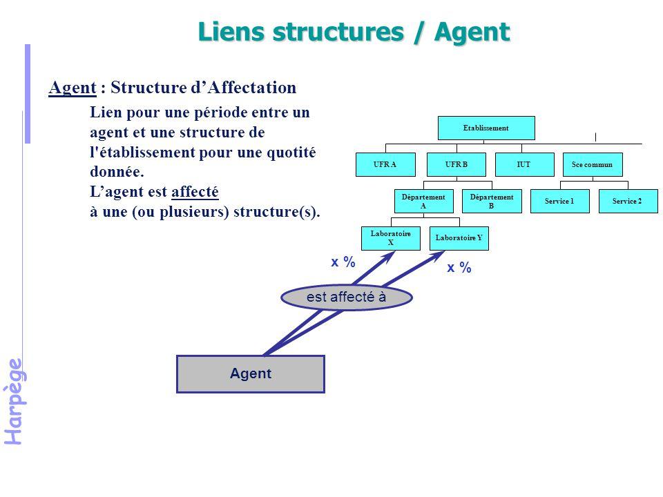 Liens structures / Agent