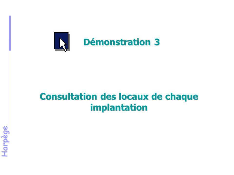 Consultation des locaux de chaque implantation