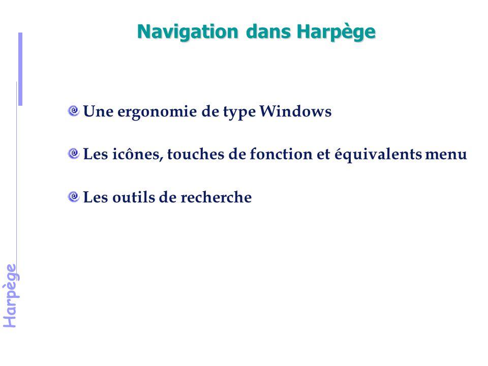 Navigation dans Harpège