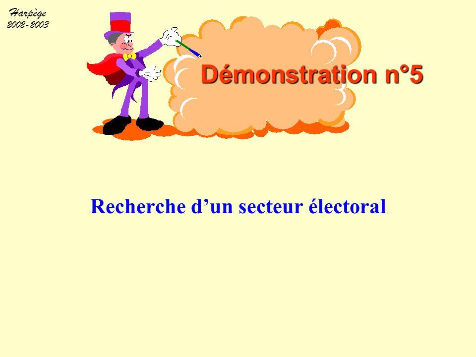 Recherche d'un secteur électoral