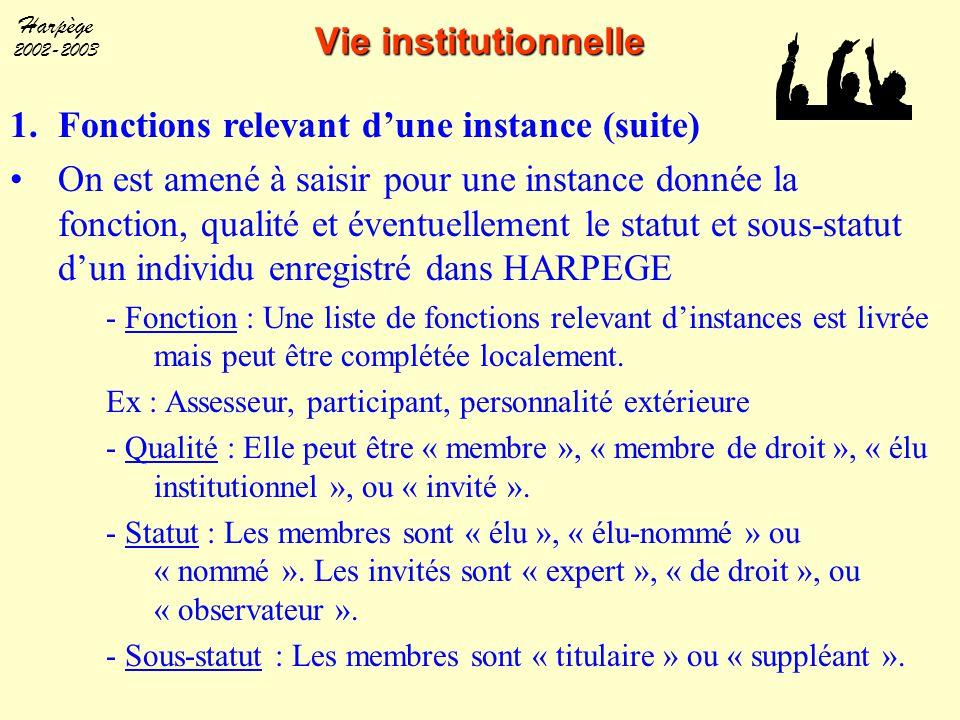 Fonctions relevant d'une instance (suite)