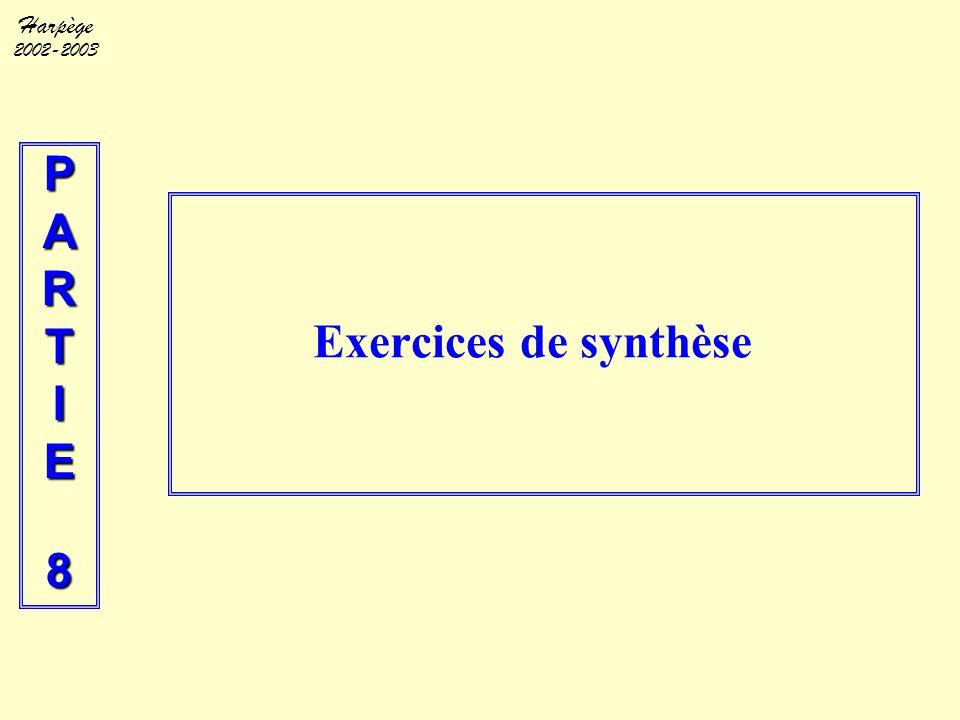 P A R T I E 8 Exercices de synthèse