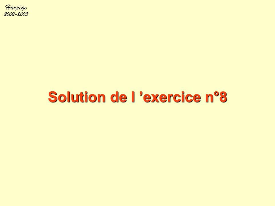Solution de l 'exercice n°8