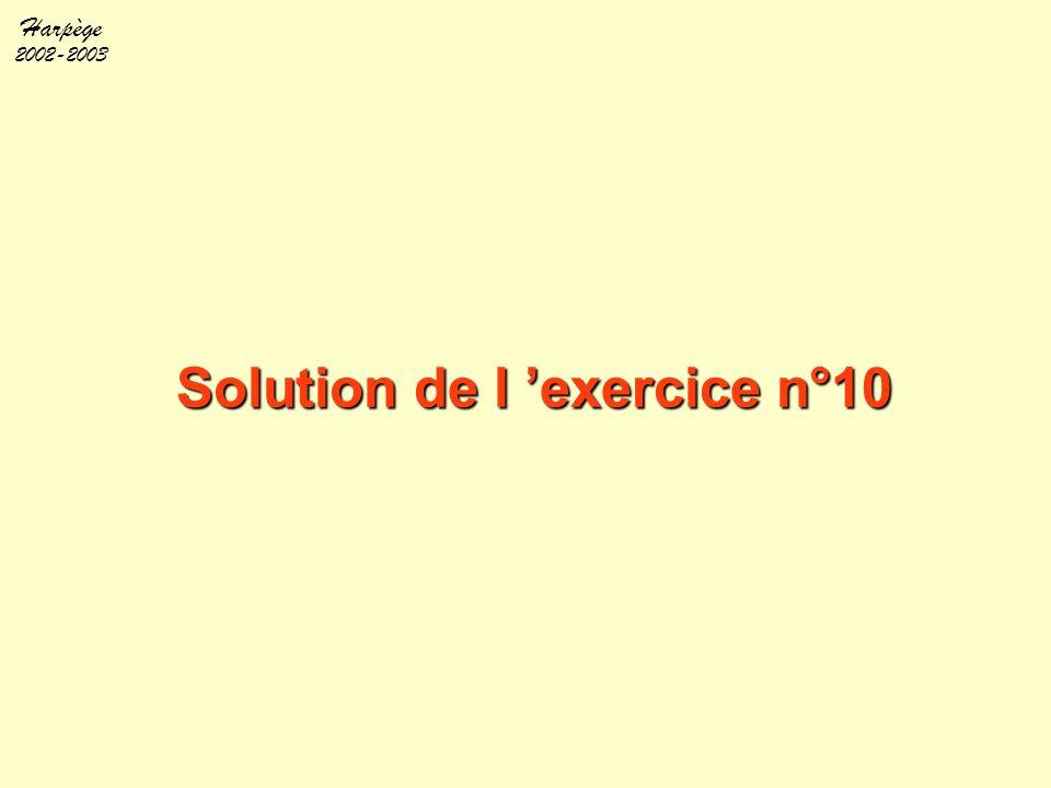Solution de l 'exercice n°10