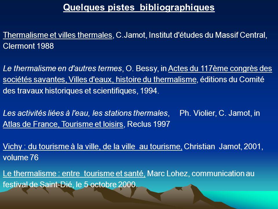 Quelques pistes bibliographiques