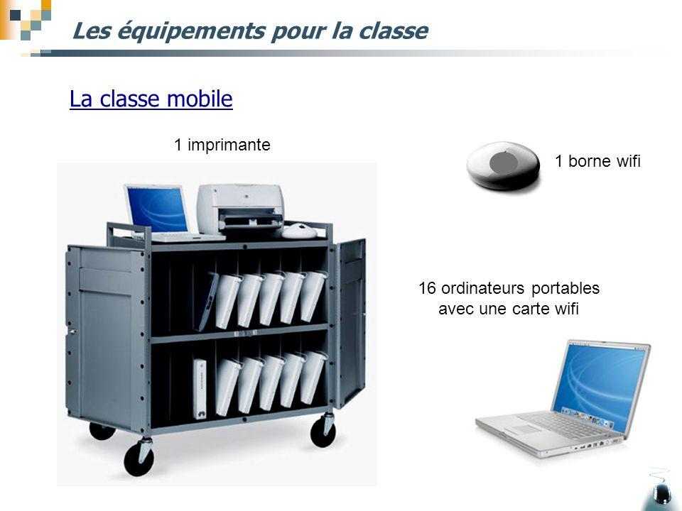 Les équipements pour la classe