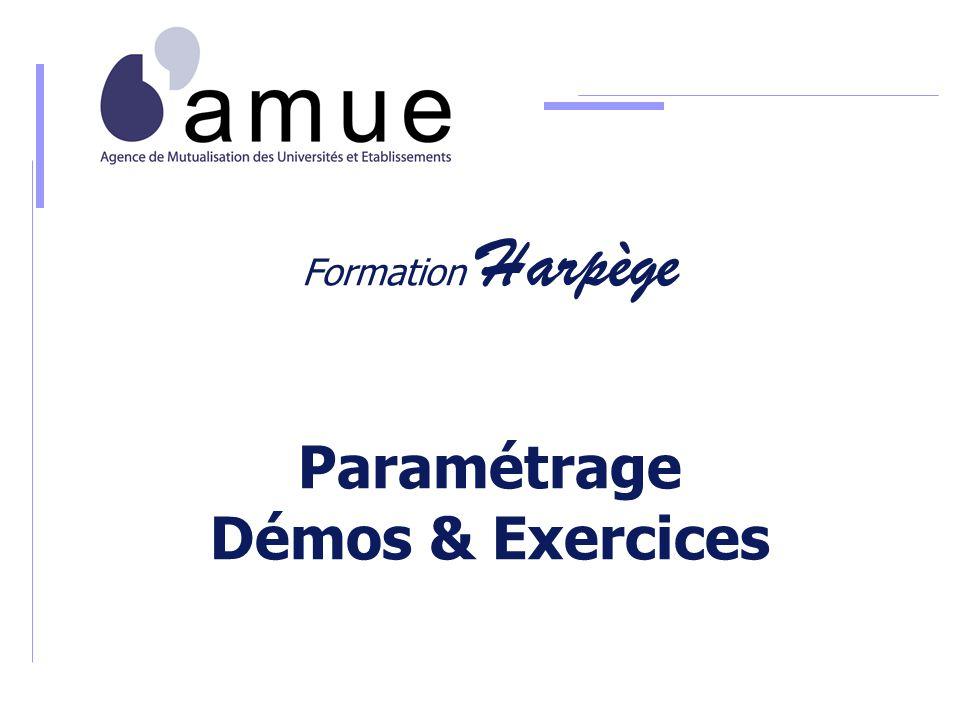 Formation Harpège Paramétrage Démos & Exercices