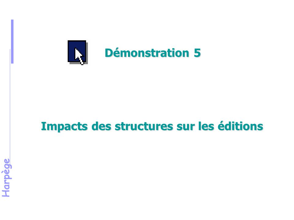 Impacts des structures sur les éditions