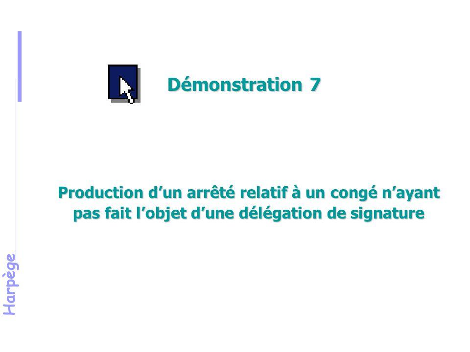 Démonstration 7 Montrer la saisie d'un congé ordinaire de maladie pour une population sans délégation de signature et sans production d'arrêté.