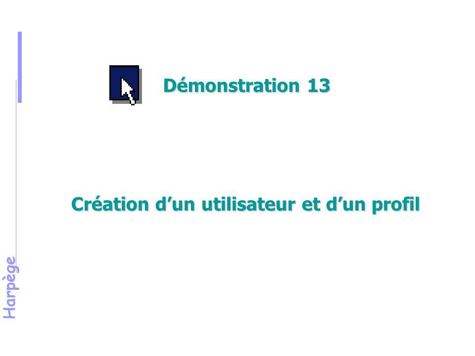 Création d'un utilisateur et d'un profil