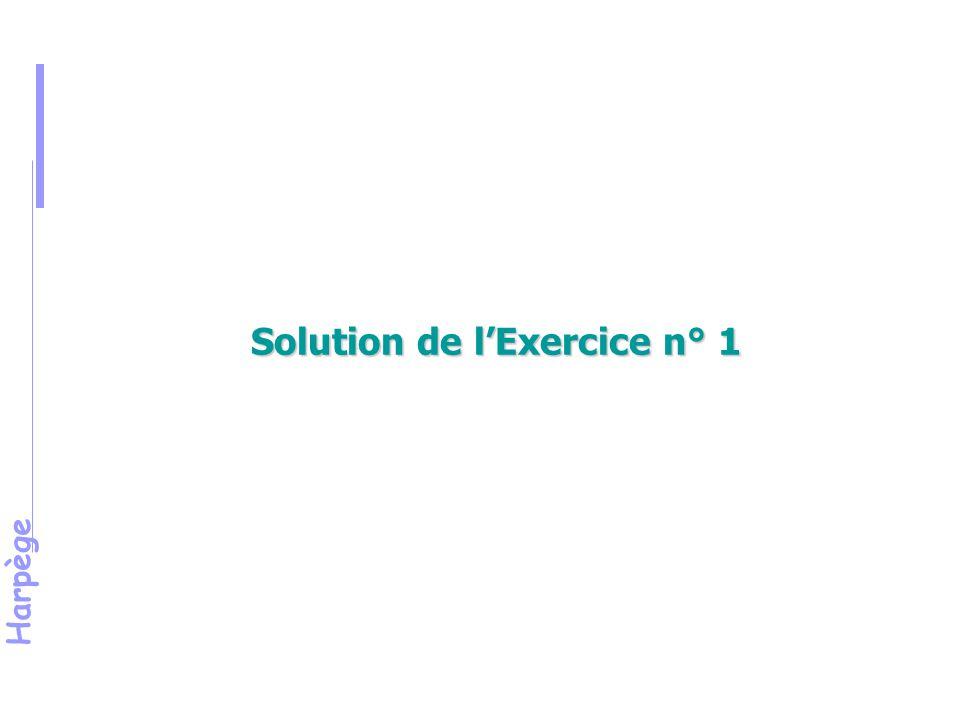 Solution de l'Exercice n° 1