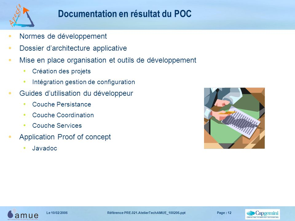 Documentation en résultat du POC