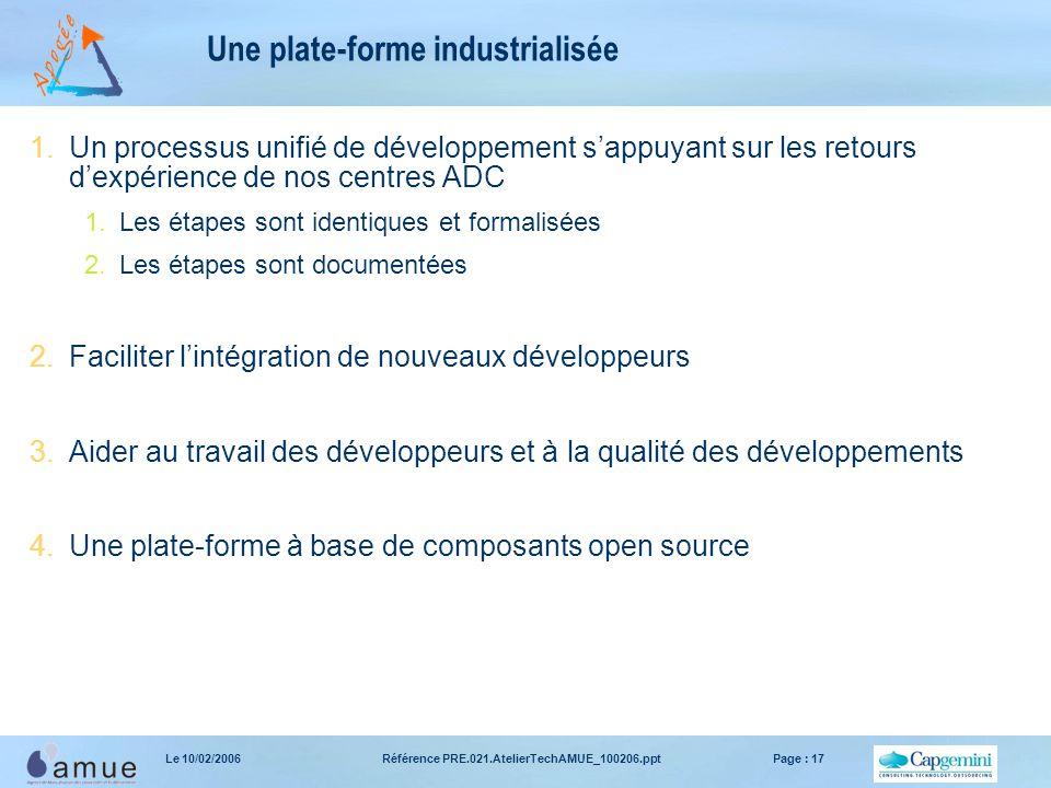 Une plate-forme industrialisée
