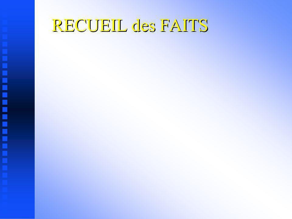 RECUEIL des FAITS