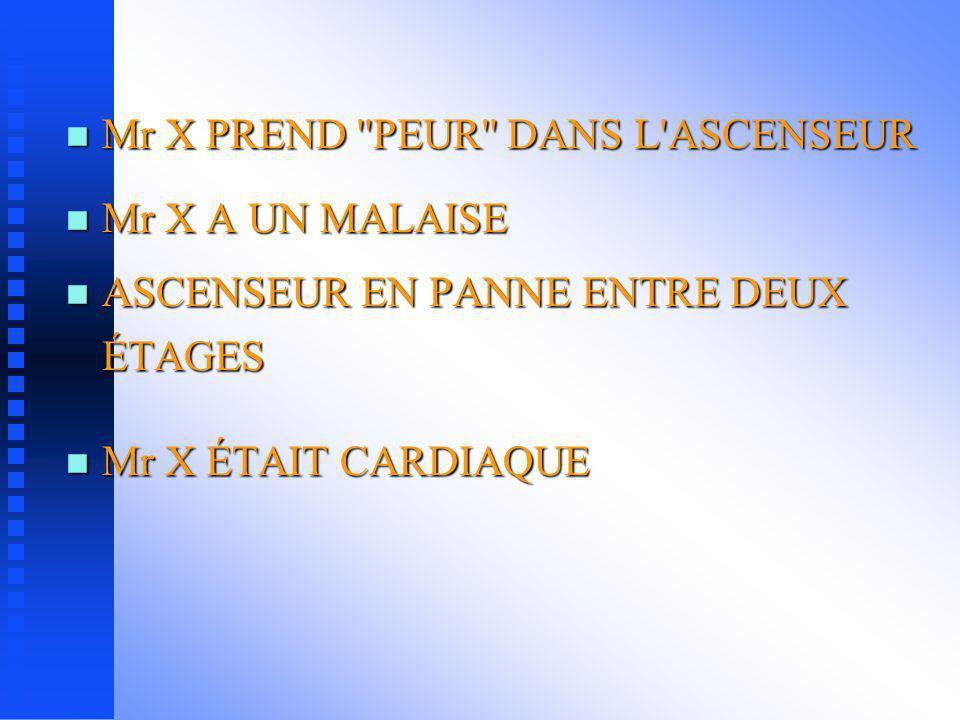 Mr X PREND PEUR DANS L ASCENSEUR