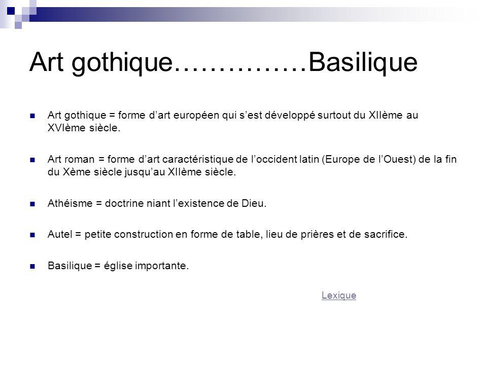 Art gothique……………Basilique
