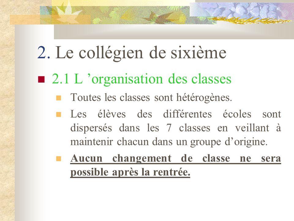 2. Le collégien de sixième