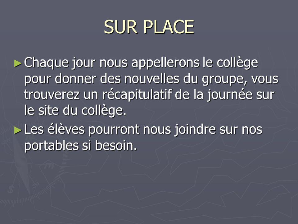 SUR PLACE