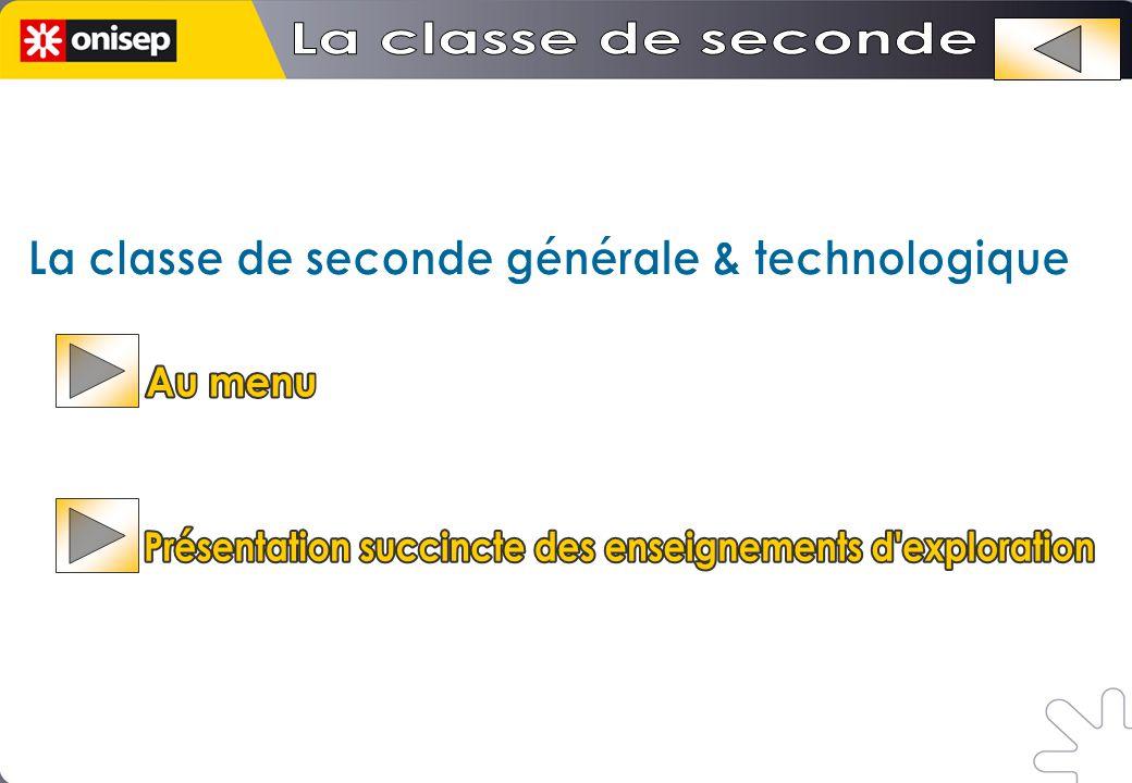 La classe de seconde générale & technologique