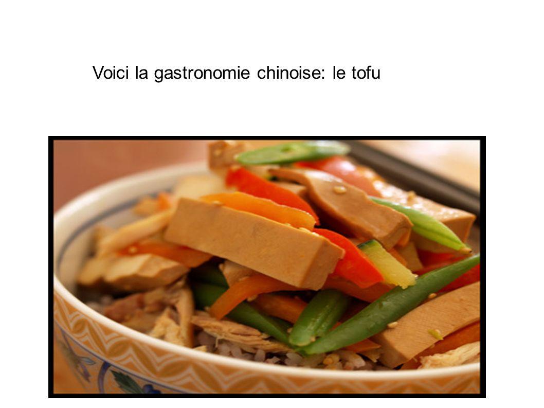 Voici la gastronomie chinoise: le tofu