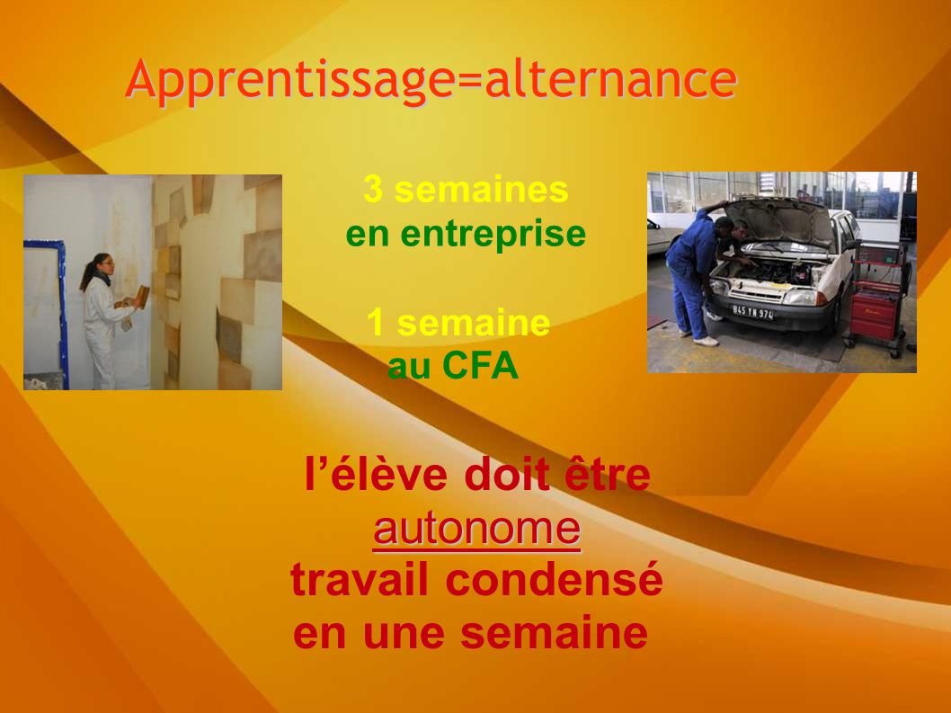 Apprentissage=alternance