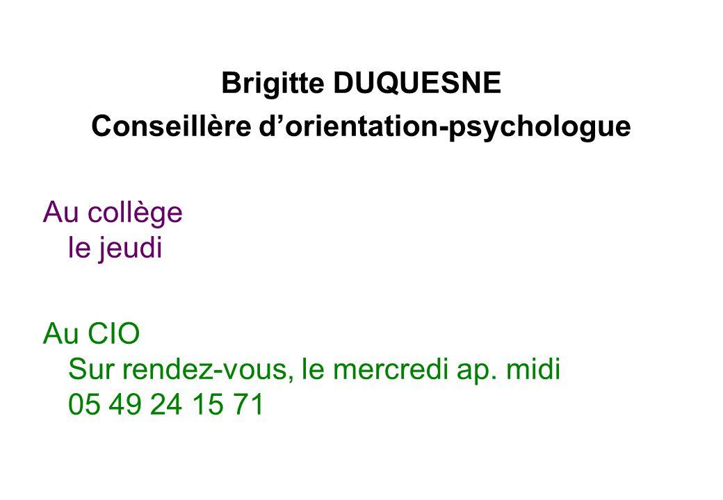 Conseillère d'orientation-psychologue