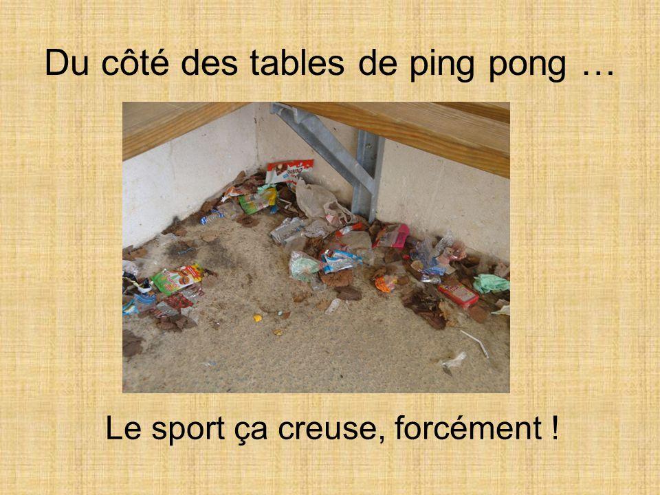 Du côté des tables de ping pong …
