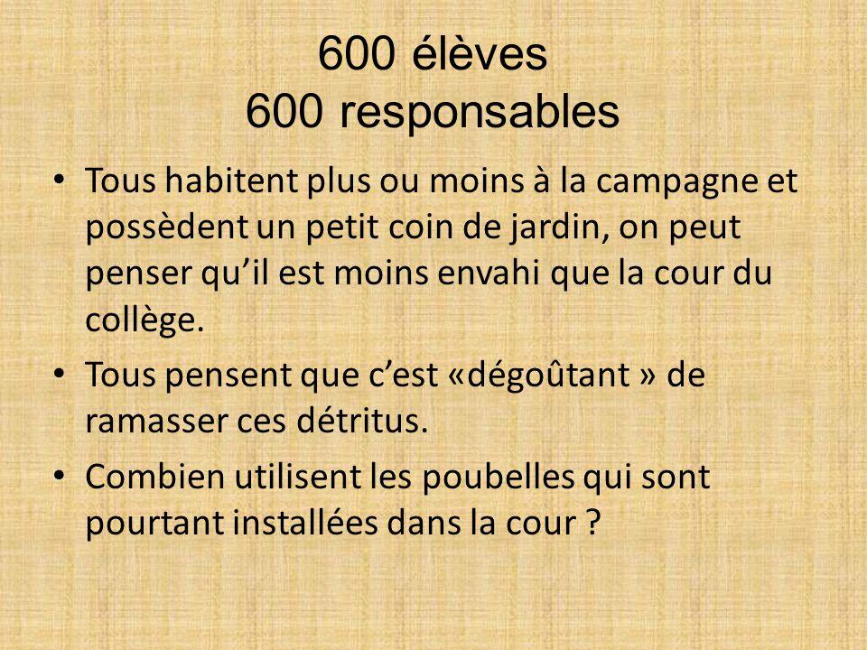 600 élèves 600 responsables