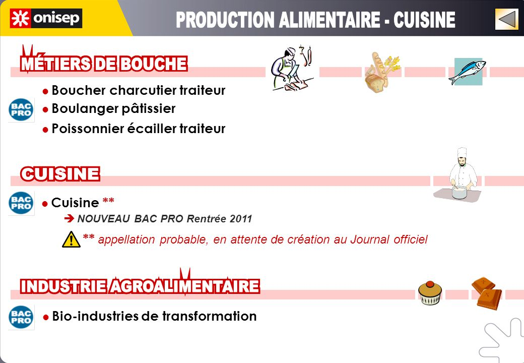 PRODUCTION ALIMENTAIRE - CUISINE